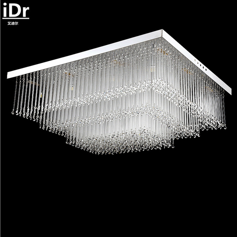 Einfache Rechteckige LED Kristall Deckenleuchte Schlafzimmer Wohnzimmer Lampen Stimmungsvollen Restaurant Deckenleuchten IDr 0128China