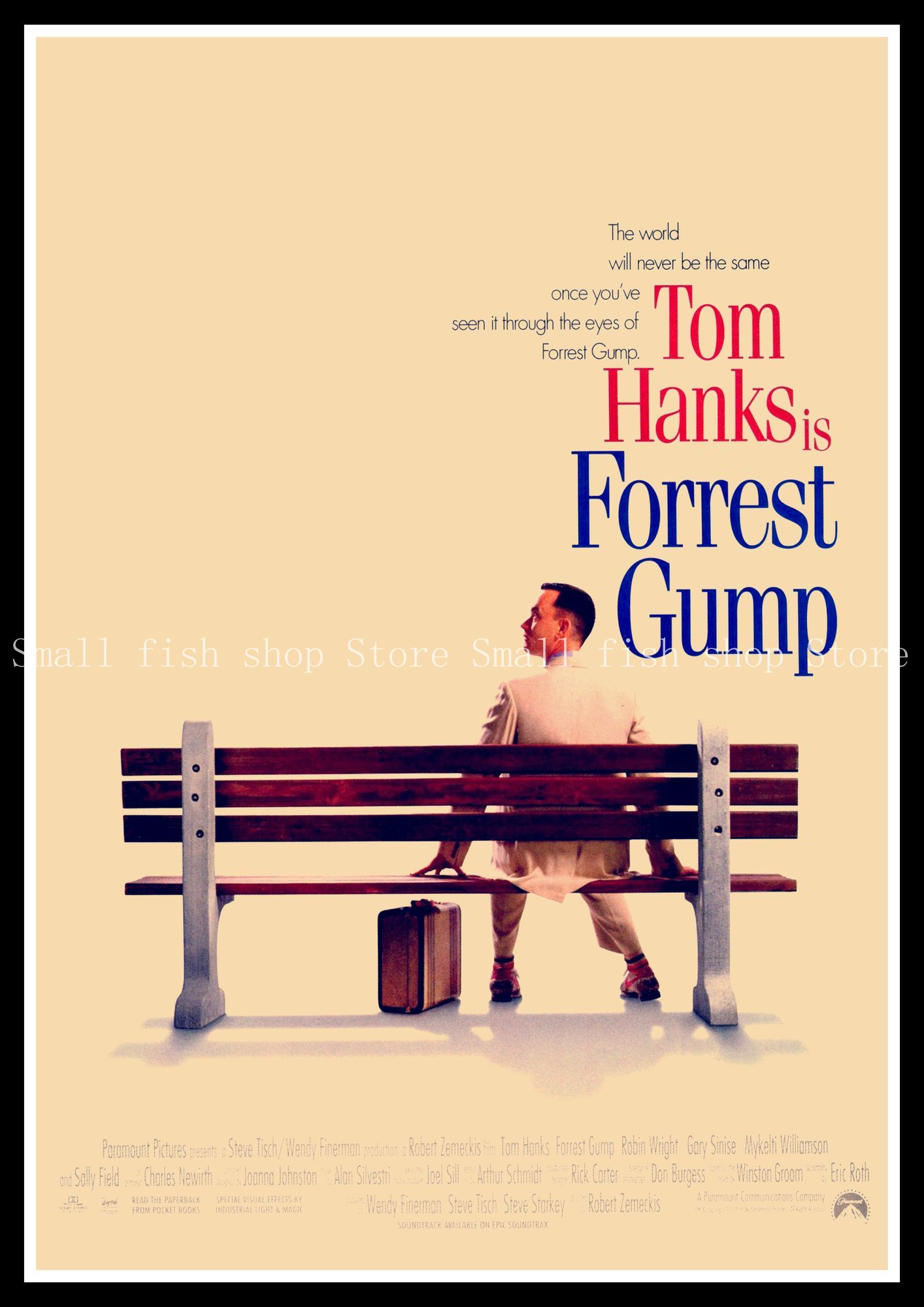 409f1a55a3f988 Forrest Gump Vintage Retro Decorative Frame Poster Wall Posters Home Decor  Gift 42 30 cm