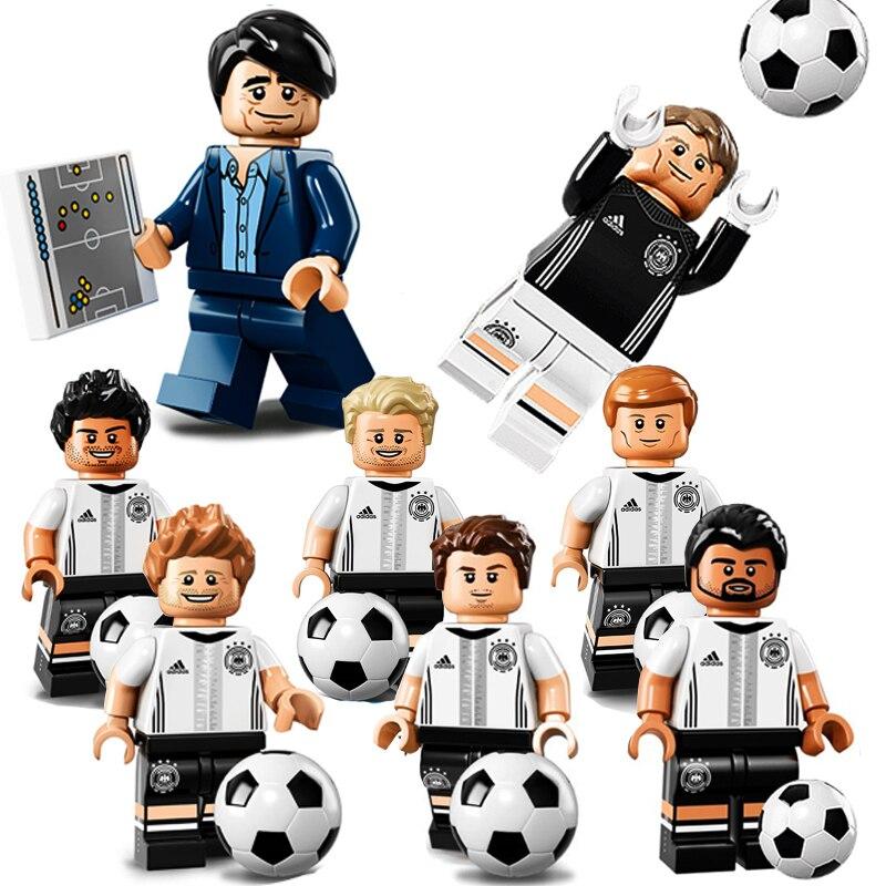 Jogadores de futebol Brasil 2018 Copa Do Mundo de Futebol da equipe Rússia  Alemão modelo de blocos de construção Compatíveis com Legoed Figura bricks  ... 5032829782d90