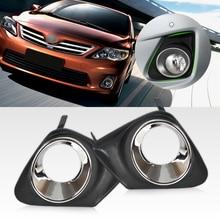 DWCX 2 шт. автомобильный черный Передний правый + левый бампера Туман свет лампы Крышка решетка гриль пара пригодный для Toyota Corolla 2011 2012 2013