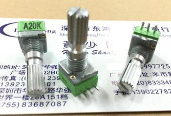 5 uds Taiwan ALPHA Alfa RK097 potenciómetro de precisión tipo A20K eje único largo 20MM potenciómetro amplificador de potencia
