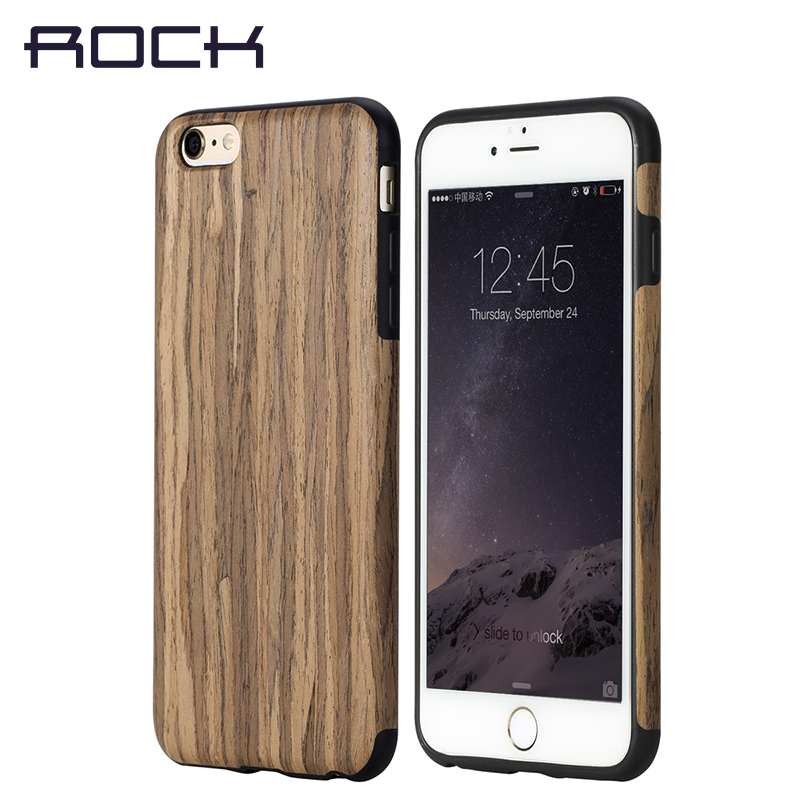 Rock Wood Case For Iphone 6 6s 6plus 6s Plus Case Skin Hard Texture