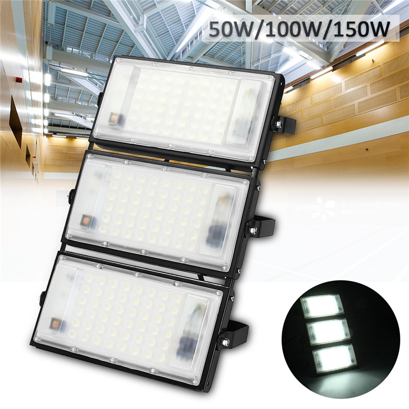 50W 100W 150W Led Flood Light 2835SMD Outdoor Floodlight Spotlight Wall Washer Lamp Reflector Lighting IP65 Waterproof Garden