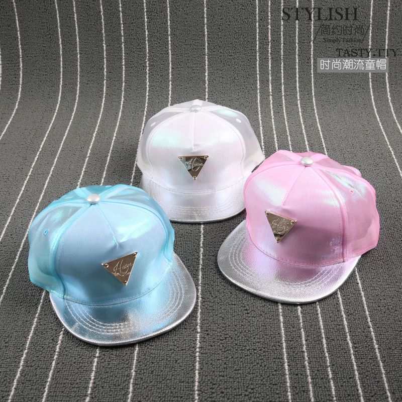 New Adjustable Lighted Baseball Cap Shining Hip Hop Fluorescent Snapback Caps Kids Silver reflective Casquette Boy Snap Back brand new blvd supply snapback baseball cap red basic adjustable original cap hip hop cap