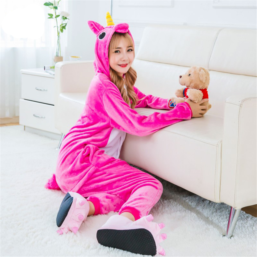 Anime Colorful Rainbow Unicorn Pyjamas Onesize Cosplay Pajamas Animal Cosplay Costume Fancy Dress Cos Sleepwear