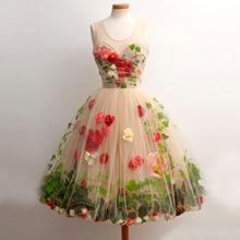 Land Stil Ballkleid Cocktailkleid Teens Benutzerdefinierte Made Blume Short Mini Homecoming Kleider Vestidos Graduacion 2016 Cortos