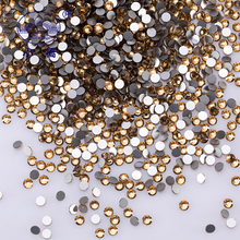 Glitter Light Brown Glass Flat Back Rhinestone Colorful Round Crystal  Strass Glue On Decorative Rhinestones For 2e988a60b58f