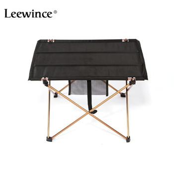 Leewince stoliki na świeżym powietrzu Camping przenośny ze stopu Aluminium ze stopu Aluminium stoły wodoodporne ultralekki trwały składany stół biurko na piknik tanie i dobre opinie Meble ogrodowe Ogród zestaw Minimalistyczny nowoczesny Nowoczesne JJ105-1 Metal Outdoor Table Outdoor Furniture