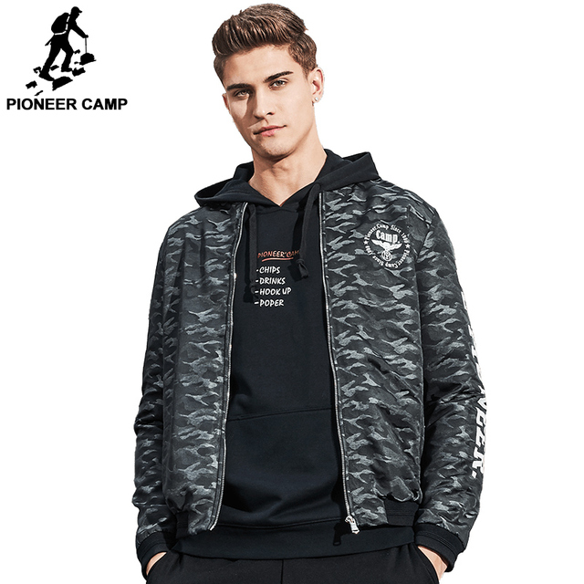 78937b76ac2 Pioneer Camp 2017 Новая Весна куртка мужчины бренд clothing военная куртка  пальто моды для мужчин камуфляж