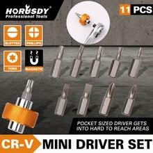 цена на HORUSDY 11Pcs Screwdrivers Bit Security Bit Set Torx Flat Head Star Cross 1/4 Hex Shank Screwdriver Head Screwdrivers Head Set