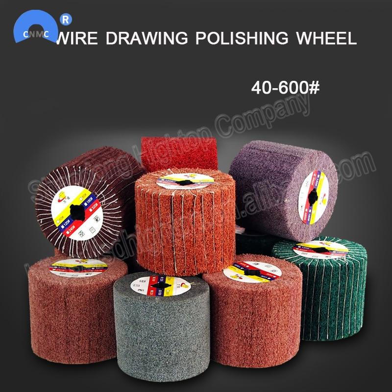 4.8 Inch Wire Drawing Polishing Burnishing Wheel For Polisher Sander Wheel 60#
