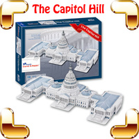 New DIY Gift Capitol Hill 3D Puzzle Building Model Structure American Famous Place Puzzle Game Learning Toys For Adult