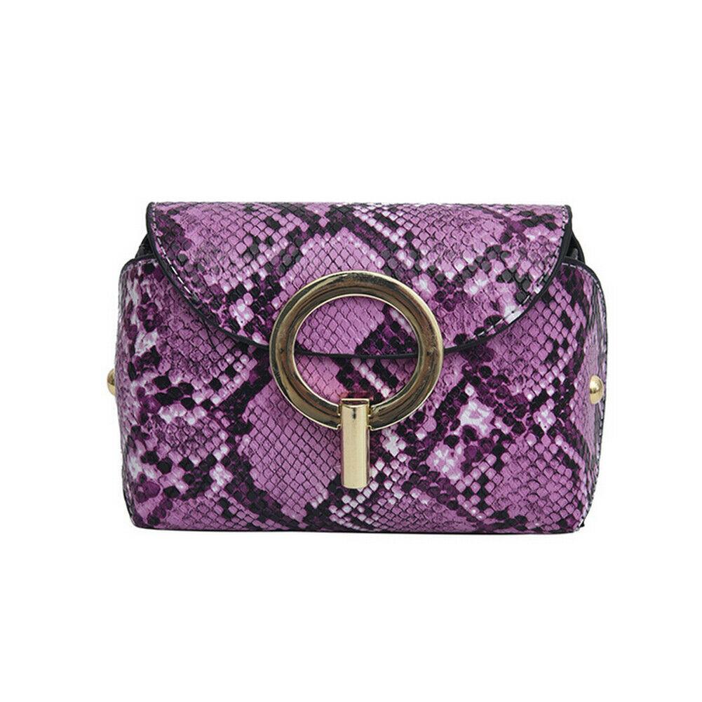 Snake Waist Bags Women Serpentine PU Leather Crossbody Shoulder Bag Chest Packs