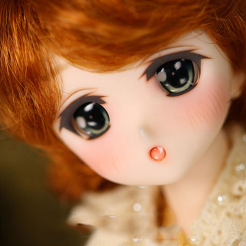 1 6 BJD Doll LOVELY Cute Cartoon Lab Chibi Moe Ren Joint Doll For Baby Girl