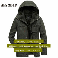 Militar 6xl/7xl/8xl Oversize Parkas coat men,Hooded collar Winter Solid Cotton Coat 2019,Male Keep Warm Motor & biker coat parka