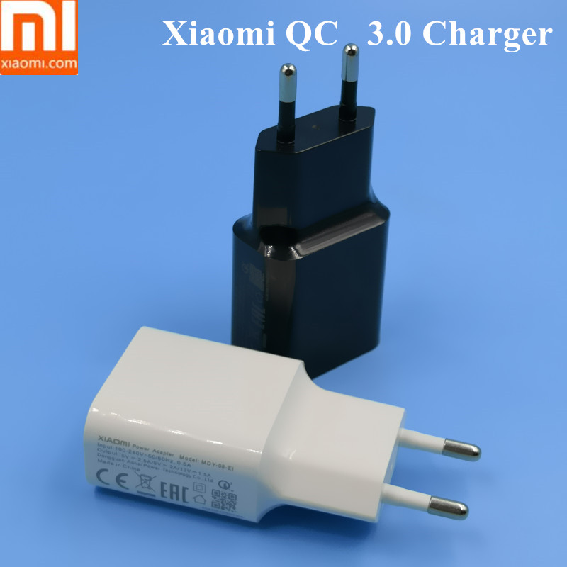 Xiaomi 8 Зарядное устройство QC 3,0 адаптер зарядки 5 В 2.5A/9 V 2 A/12 В 1.5A для Xiaomi mi a1 5 5S mi 5 mi x 2 2 S MAX2 красный mi Примечание 5 плюс