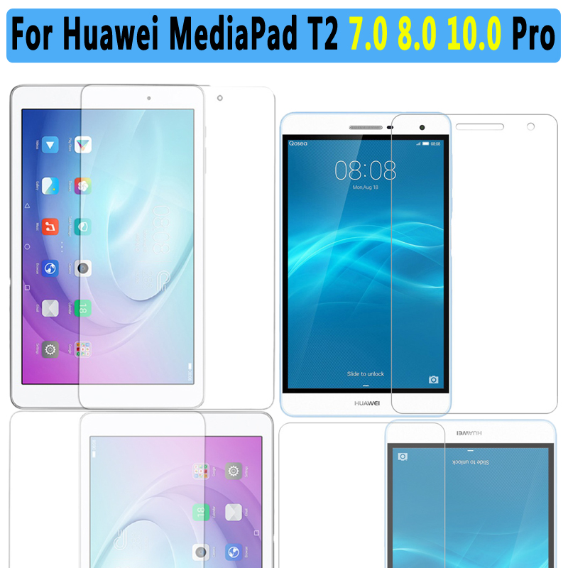 Premium Quality Tempered Glass For Huawei Mediapad T2 10.0 Pro Tablet Screen Protector For Huawei Mediapad T2 7.0 8.0 Pro Film цена и фото