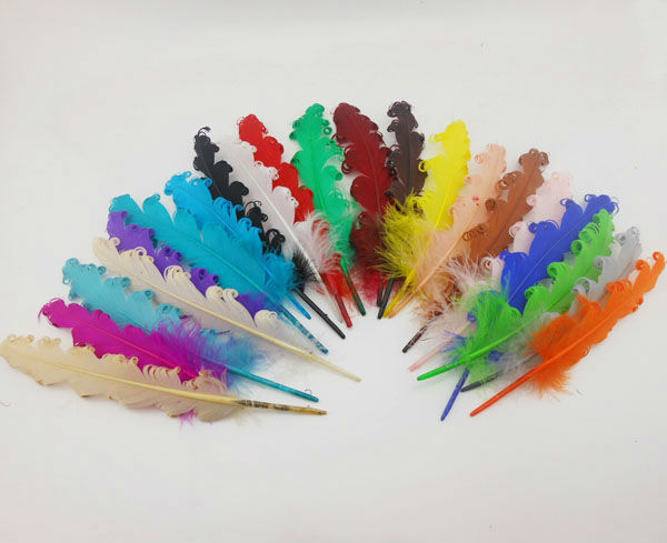 Feather for Sale 24x DIY Pheasant Feather Jewelry Accessories Craft Curly Goose Feathers Length 14-18cm IF22