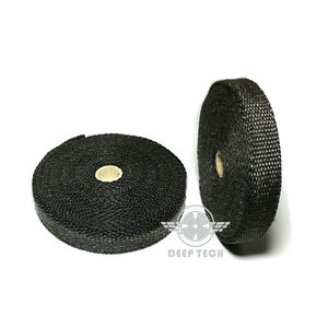Image 4 - 10m Exhaust Muffler Pipe Tape Heat Resistant Wrap Black Exhaust Wrap Auto Motor Exhaust Manifold Heat Shield Wrap