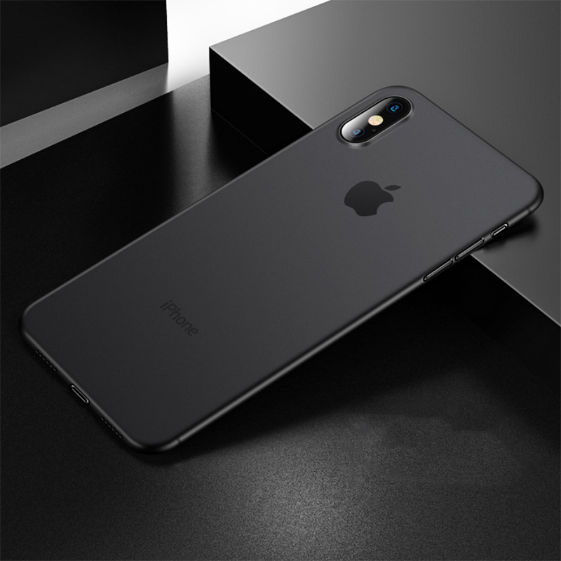 0 03 Super Fitted Case For iphone xr case Capinhas Ultra Thin Slim Soft PP Silicone Cover Case For iphone x case iphone 7 8case in Fitted Cases from Cellphones Telecommunications