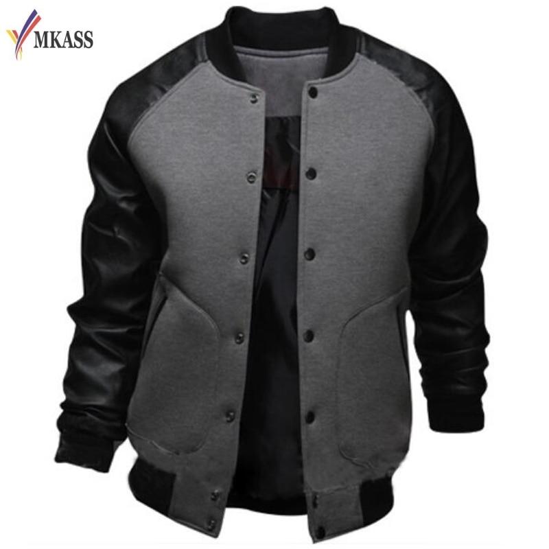 Cool Mens 4 Colors Baseball Jacket Autumn Fashion Slim ...