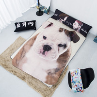 Home Textiles Suitable 3D Pet Dog Printed Blanket Comforter Bed Cover Quilting Washable Summer Quilt for Children Kids Adults
