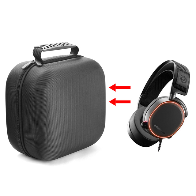 2019 Newest Portable EVA Hard Travel Carrying Protective Cover Bag Case for SteelSeries Arctis Pro Gaming Headphones Headset