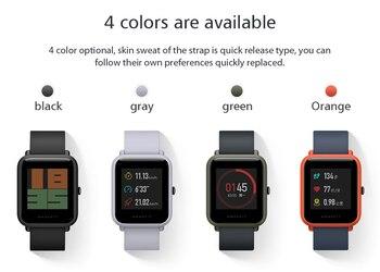 Xiaomi AMAZFIT Bip Smart Watch support  GPS Bluetooth 4.0 IP68 Waterproof 5