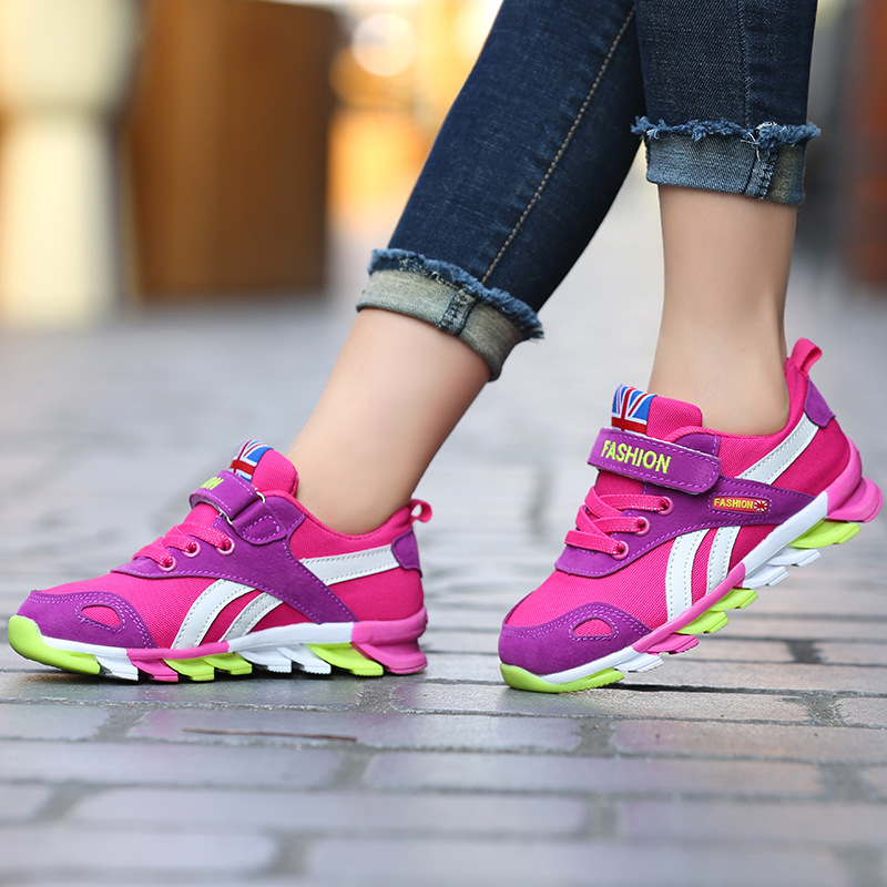 Casual kids school sneakers shoes for boys and girls 2018 new children sport shoes breathable kids running shoes size 3-18 yearsCasual kids school sneakers shoes for boys and girls 2018 new children sport shoes breathable kids running shoes size 3-18 years