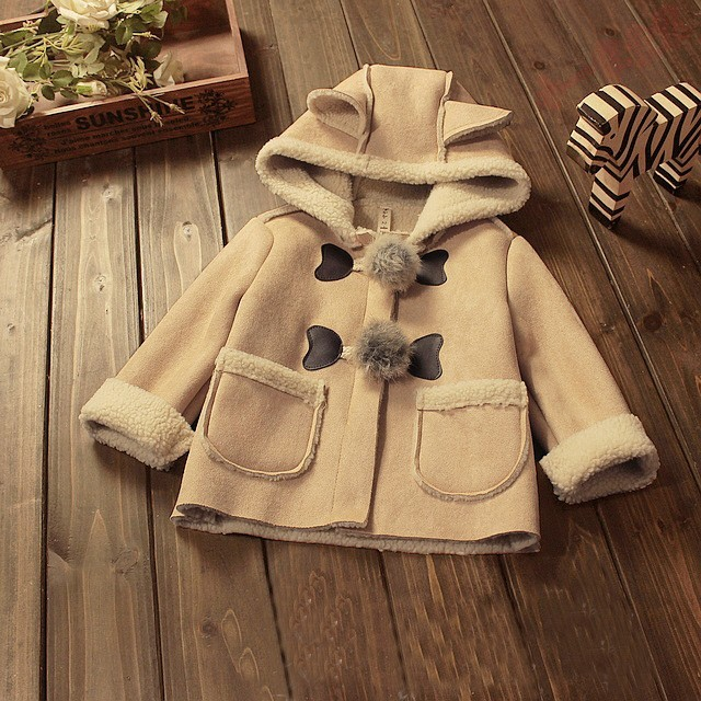 New Style Baby Girl Jacket With Hoodie