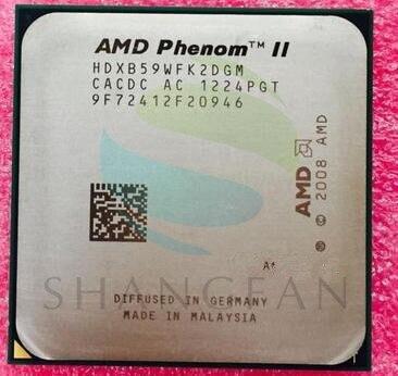 AMD Phenom X2 B59 3.4GHz divkodolu CPU procesors HDXB59WFK2DGM 80W Socket AM3 938pin
