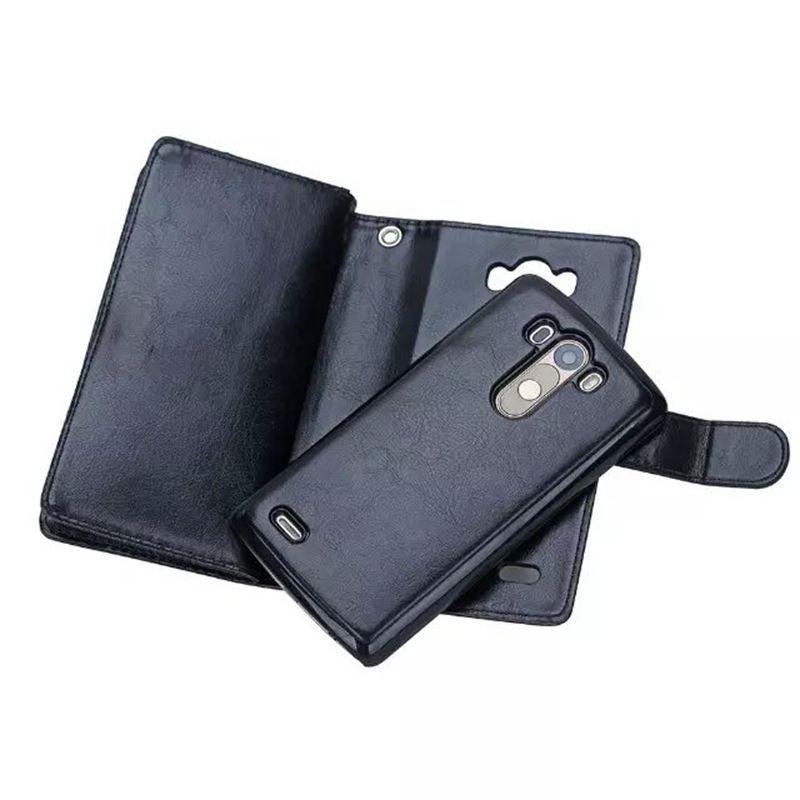 bilder für Multifunktionale Abnehmbare Brieftasche Fall Für LG G3 Leder Flip-Cover Telefon Handtasche Tasche Fall Für LG G3 D830 D850 D831 D855