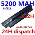 5200 MAH 6 celdas Aspire One 532 h UM09H41 UM09H71 AO532h-2Bb AO532h-W123 UM09G75 UM09G41 NAV50 portátil AO532h-2223