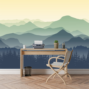 Image 3 - ShineHome Custom Chinese Oil Ink Painting Mountain Nature Wallpapers 3 d Wall Paper Wallpaper Mural Roll for Living Room Walls