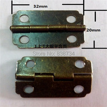 100pcs 32*20MM  Antique Hinge Wooden Gift Box Hinge Metal packaging metal big hinge Wholesale