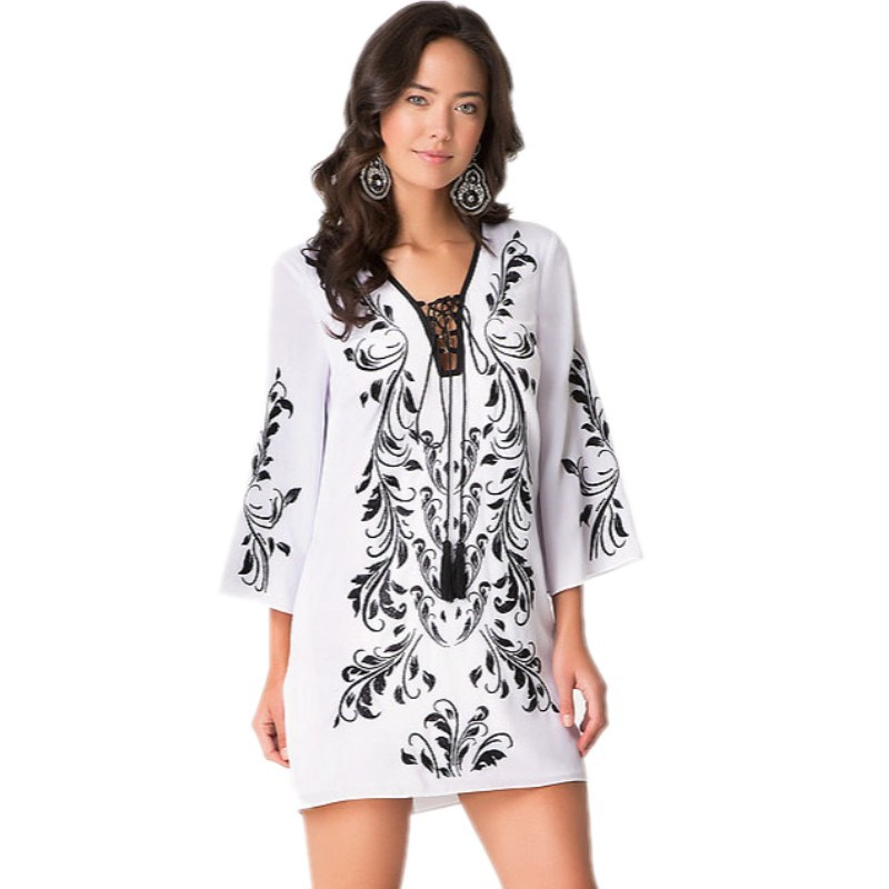 White Kimono Dress Promotion-Shop for Promotional White Kimono ...