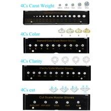4C elmas standart karat ağırlık renk netlik kesim ölçekli CZ ana taş yuvarlak şekil lazer kübik zirkonya taş test araçları