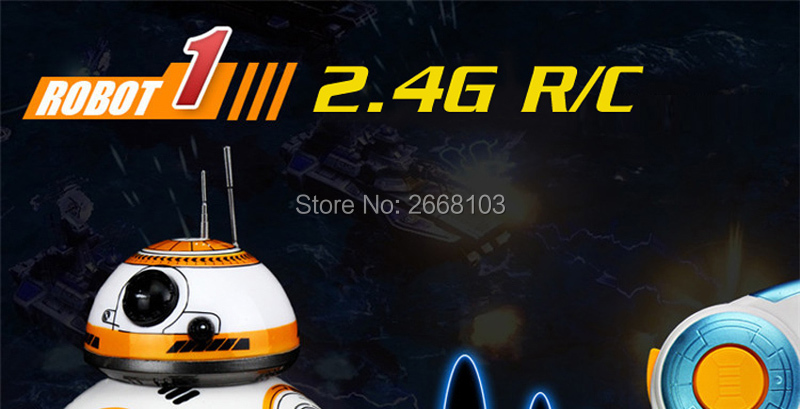 Upgrade Model Ball Star Wars RC BB-8 Droid Robot BB8 Intelligent Robot 2.4G Remote Control Toys For Girl Gifts With Sound Action 3