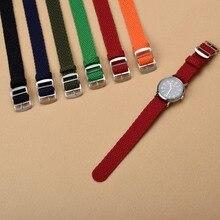 Nouvelle arrivée Chaude En Gros 1 PCS/lot 20 MM 22 MM en nylon bretelles perlon bretelles armure bretelles montre bracelet bande de Montre coloré couleur