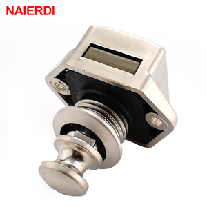 10PCS NAIERDI Camper Car Push Lock 20mm RV Caravan Boat Motor Home Cabinet Drawer Latch Button Locks For Furniture Hardware