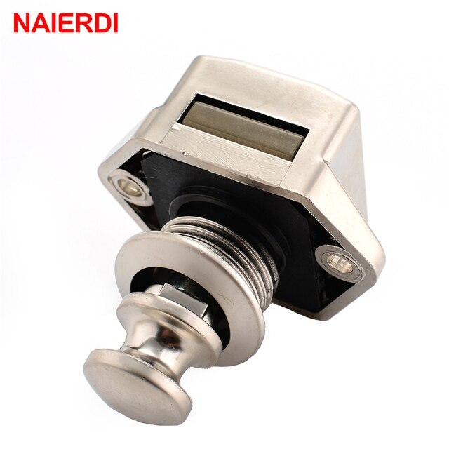 10Pcs Naierdi Camper Auto Push Lock 20Mm Rv Caravan Boot Motor Thuis Kabinet Lade Klink Knop Sloten Voor meubels Hardware