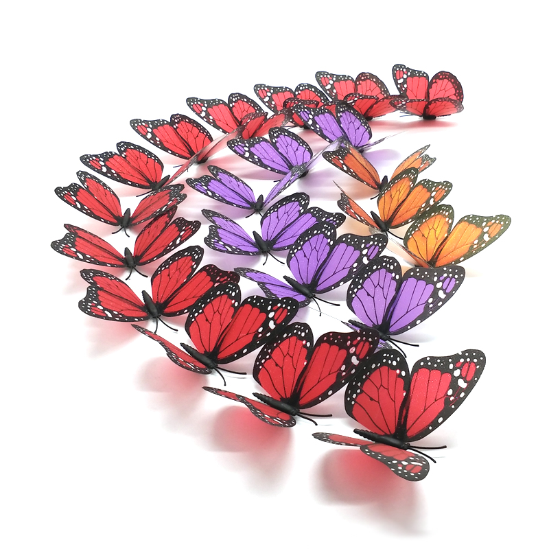 product Sparkle Beautiful 3D Butterfly Wall Stickers DIY Home Decor With Magnet & Glue DotsFor Living RoomBedroomParty Decoration