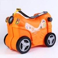 Высокое качество детский чемодан дорожный шкафчик мальчик интернат чехол игрушечный автомобиль коробка Горячий багаж креативный может си
