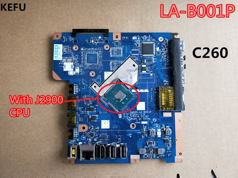 KEFU LA B001P motherboard For Lenovo C260 Motherboard with J2900 CPU LA B001P 90007086 tested fully