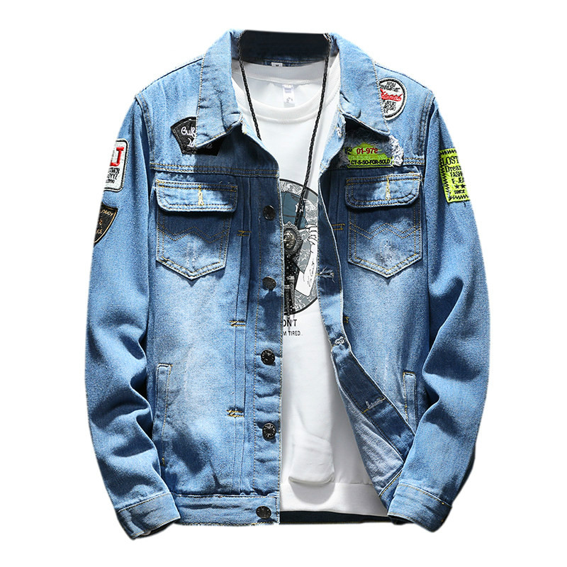 Jackets & Coats S-2xl Youth Womans Denim Jacket Spring 2019 Autumn Casual Nostalgic Nail Bead Slim Thin Jean Outerwear Cotton Short Coat Female Fine Quality Basic Jackets