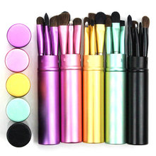 5 Buah Perjalanan Portable Mini Eye Makeup Brushes Set Real Eyeshadow Eyeliner Sikat Alis Bibir Make Up Brushes Kit Profesional(China)