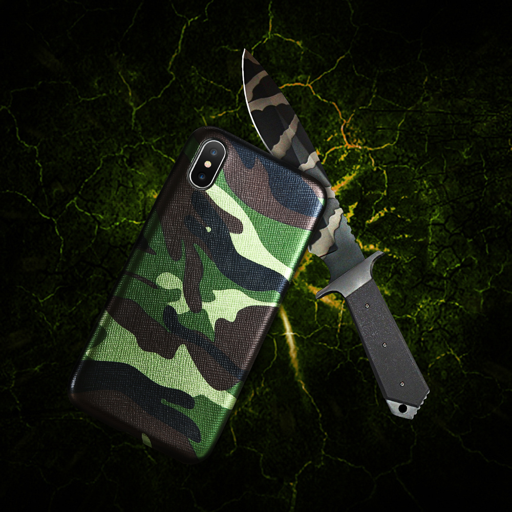 Military Case For iPhone 6 6S 6 Plus 6S Plus Camo Case For iPhone 7 7Plus 5 5S SE Camouflage Cover Matte PU Coverage Capa X 10