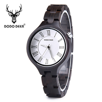 DODO DEER Casual Top Quality Ladies Wooden Watches OEM horloges vrouwen with Quartz Movement Wood Women Watch Christmas Gifts