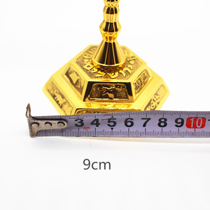 Image 5 - ゴールドメッキ本枝の燭台 7 支店ホルダー 12 部族エルサレムユダヤ 4.7 インチ
