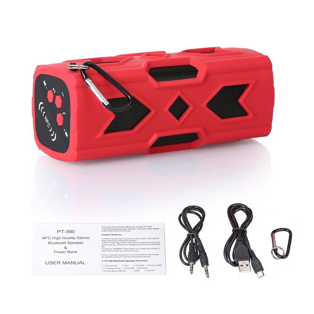 Outdoor Waterproof Bluetooth Speaker CSR-4.0 With NFC Function Emergency Charging Port Portable Audio And Video Equipment 4